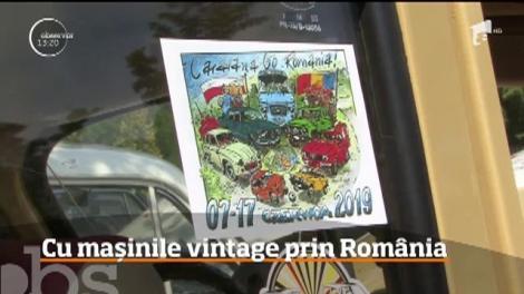 Cu mașinile vintage prin România. A treia ediţie a caravanei Go România au adus pe şoselele ţării 20 de maşini vechi