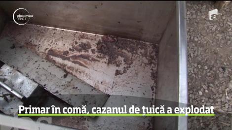 Primarul comunei Corni, Botoşani, în comă la spital, după ce cazanul de ţuică i-a explodat în faţă