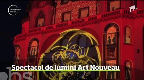 Spectacol de lumină şi culoare la Oradea. Se sărbătoreşte Ziua Mondială Art Nouveau