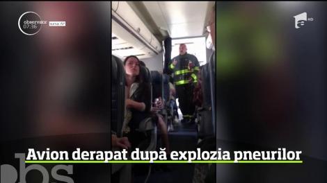 Incident pe aeroport, lângă New York. Un avion cu 166 de pasageri a derapat şi a ieşit de pe pistă