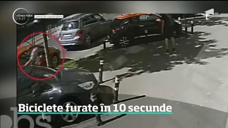 Biciclete furate în zece secunde. Unele dintre ele costă cât o maşină second hand