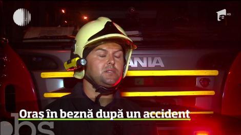 Avarie de proporţii la reţeaua de alimentare cu energie electrică din Mioveni, Argeş, după un accident