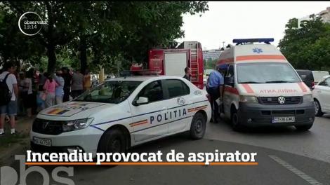 Incendiu provocat de aspirator în Constanța