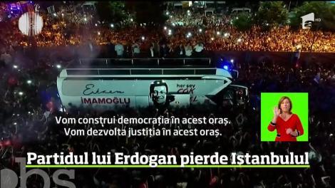Înfrângere grea pentru preşedintele Turciei. Candidatul formaţiunii politice conduse de Recep Tayyip Erdogan a fost învins în alegerile locale, reluate la Istanbul