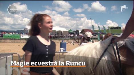 Demonstrații de artă a călăriei la Runcu, în județul Dâmbovița