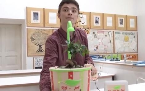 Udatul plantelor nu va mai fi o problemă! Un absolvent de liceu din Cluj a inventat ghiveciul inteligent. Cum funcționează