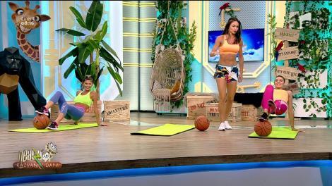 Fitness la Neatza cu Răzvan și Dani cu Diana Stejereanu! Antrenament inedit cu mingea de baschet
