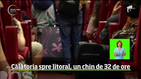 După 32 de ore şi jumătate de ţară străbătută, trenul groazei a ajuns la Mangalia