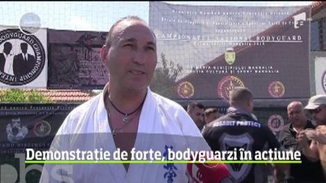 Demonstrație de forțe, bodyguarzi în acțiune la Mangalia