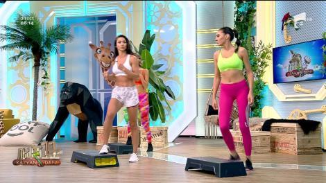 Fitness cu Diana Stejereanu, la Neatza cu Răzvan și Dani! Cele mai ușoare exerciții de cardio și tonifiere pe stepper