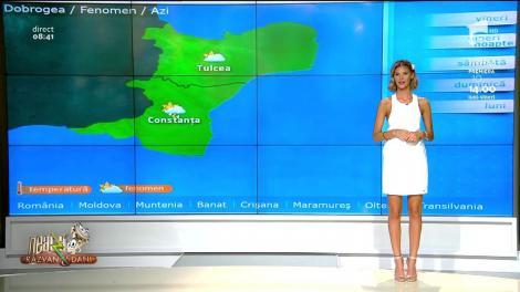 Neatza cu Răzvan și Dani. Prognoza meteo a zilei 5 iulie 2019. Vreme caldă cu înnorări temporar accentuate