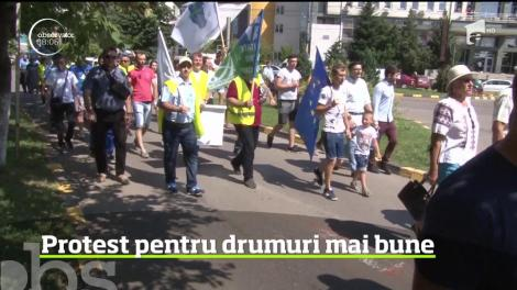 Protest pentru drumuri mai bune, în Botoșani