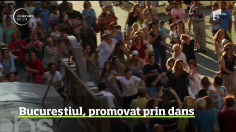 Zeci de persoane s-au alăturat unui flashmob inedit în Capitală