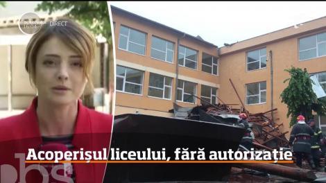 Acoperişul prăbuşit de la Colegiul Economic din Bacău, fără autorizaţie de construcţie