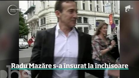 Radu Mazăre s-a însurat la închisoare. Obişnuit cu petreceri extravagante, fostul edil a avut parte doar de o ceremonie simplă