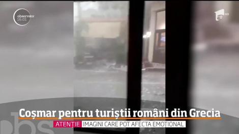 Românca și fiul ei de opt ani erau în vacanță când au fost uciși de furtuna din Grecia. Lacrimi și durere după haosul din Halkidiki