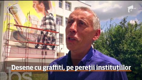 Adevărate opere de artă, pe străzile şi zidurile din Sibiu. Cui se datoreză schimbarea la faţă a oraşului