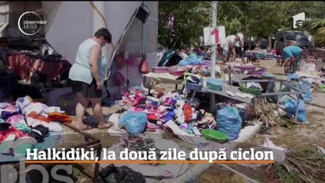 Halkidiki, la două zile după ciclon. Peninsula pare devastată de război: există un risc ridicat de producere a incendiilor de vegetaţie.