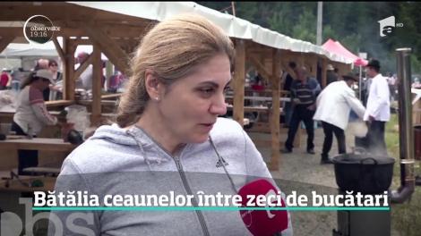 Bătălia preparatelor la ceaun, în staţiunea Borsec. Zeci de bucătari din Albania, Republica Moldova sau Ungaria şi-au prezentat tradiţiile culinare