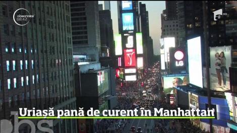 Uriașă pană de curent în Manhattan. Străzile s-au umplut de oameni dezorientaţi