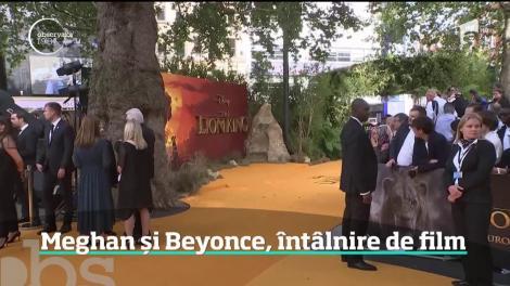 """Beyonce şi Meghan Markle, întâlnire la premieră europeană a peliculei """"The Lion King"""""""
