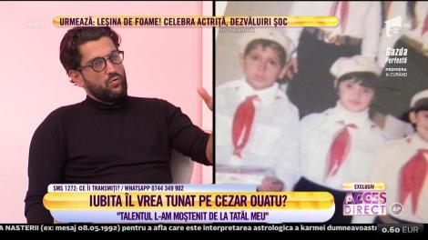 Cezar Ouatu, despre primi pași în muzică: Talentul l-am moștenit de la tatăl meu