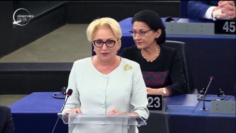 Viorica Dăncilă a cerut la Strasbourg integrarea totală în Schengen şi ridicarea MCV-ului