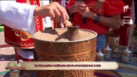 Cum se prepară faimoasa cafea turcească la nisip