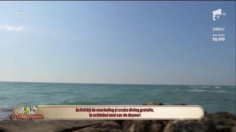 Activități de snorkeling și scuba diving gratuite în Costinești, în schimbul unui sac de deșeuri