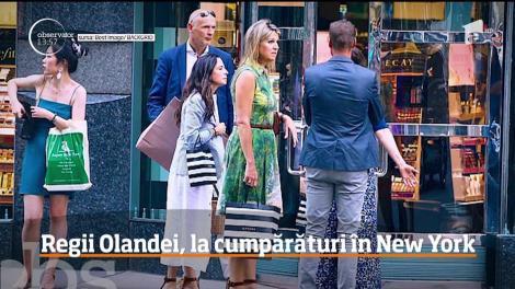 Regii Olandei, la cumpărături în New York