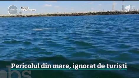 I-a smuls din ghearele morții în ultima clipă! Operațiunea dramatică a unui salvamar, filmată pe plaja din staţiunea Jupiter! Imagini tulburătoare! Video