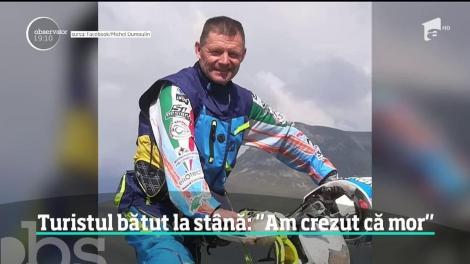 Motociclistul belgian care a fost bătut crunt de trei ciobani a descris filmul atacului teribil