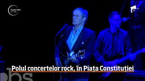 Polul concertelor rock, în Piața Constituției