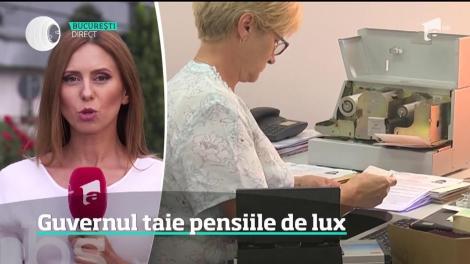 Guvernul taie pensiile de lux