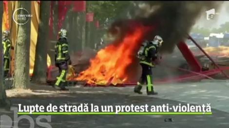 Confruntări violente pe străzile din Nantes la un protest menit să denunţe brutalitatea forţelor de ordine