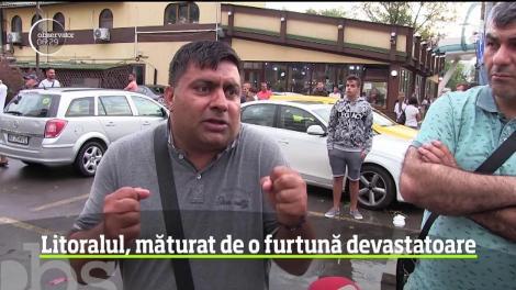 Litoralul românesc, lovit de o furtună violentă! Zeci de mașini și apartamente au fost distruse vijelia care a durat zeci de minute