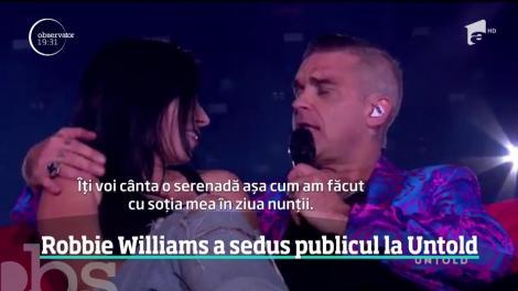 Robbie Williams a sedus publicul la Untold. Peste 100 de mii de spectatori au dansat şi au cântat alături de superstarul britanic