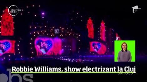 Ultima noapte de UNTOLD l-a adus în faţa celor 100.000 de tineri de pe stadion pe Robbie Williams