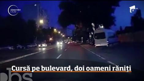 Grav accident de circulaţie în Timişoara! Doi şoferi au confundat bulevardul aglomerat cu o pistă de competiţie