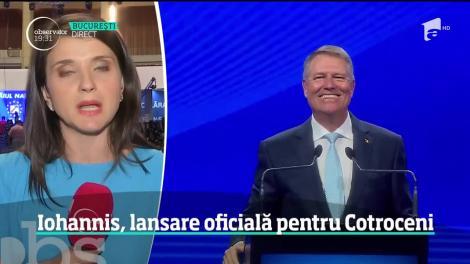 Klaus Iohannis şi-a lansat oficial candidatura pentru Cotroceni