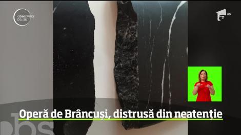 O lucrare a lui Constantin Brâncuşi, distrusă din neatenţie