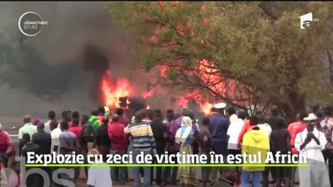 Explozie soldată cu 60 de morți în Tanzania. Un camion-cisternă plin cu carburant a sărit în aer