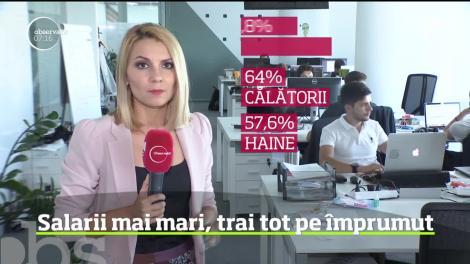 Veniturile românilor sunt în creştere, însă doar în teorie. Practica arată că peste un sfert dintre angajaţii din mediul privat se împrumută de la apropiaţi, înainte de salariu