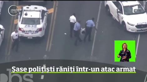 Atac armat! Șase polițiști au fost răniți după ce un individ a deschis focul, în SUA