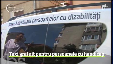 Serviciul de taxi gratuit pentru persoanele cu dizabilităţi a fost inaugurat la Timişoara