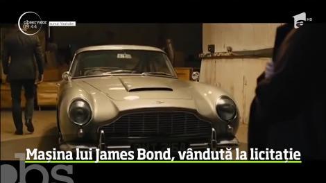 Un automobil folosit  în şase filme ale seriei cu James Bond, vândut la licitaţie cu 6,4 milioane de dolari