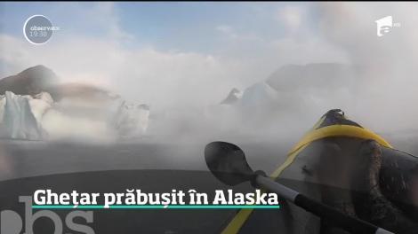 Un gheţar din Alaska s-a prăbuşit la câţiva metri de doi americani aflaţi într-un caiac