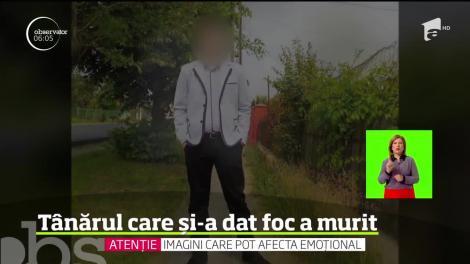 Tânărul care şi-a anunţat sinuciderea pe Facebook, apoi şi-a dat foc, în propria maşină, a murit la spital