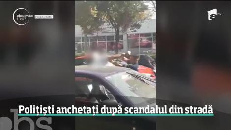 Polițiști anchetați după ce au încercat să imobilizeze un şofer