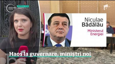 Haos la guvernare, miniștri noi